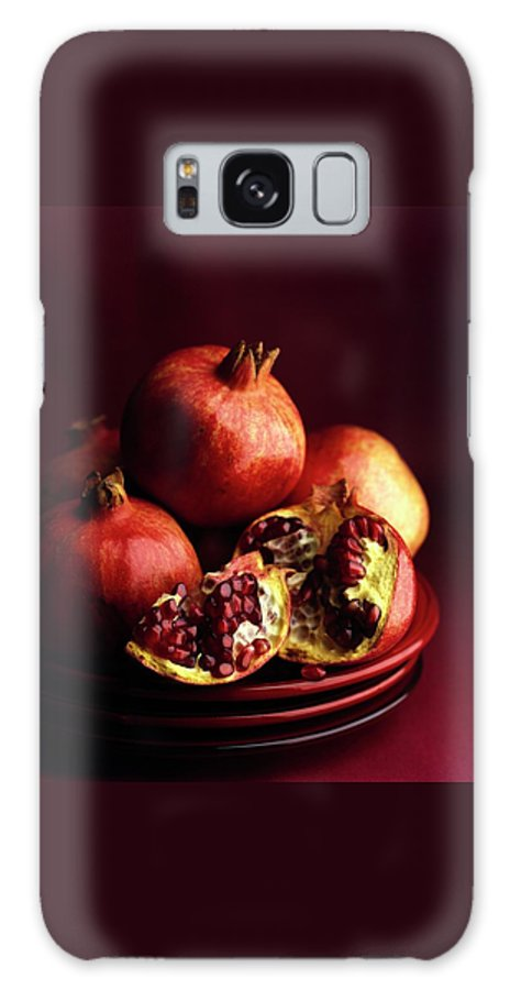 Fruits Galaxy S8 Case featuring the photograph Pomegranates by Romulo Yanes