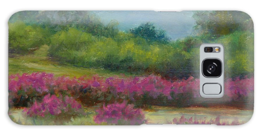 Landscape Galaxy Case featuring the painting Pond At Willow Tree Farm by Phyllis Tarlow