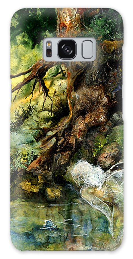 Fairy Galaxy S8 Case featuring the painting Pond Fairy by Sherry Shipley