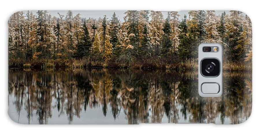 Tamarack Galaxy S8 Case featuring the photograph Pond Reflections by Paul Freidlund