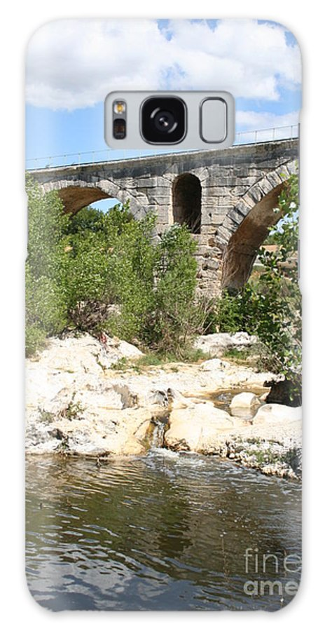 Roman Stonebridge Galaxy S8 Case featuring the photograph Pont St. Julien And River by Christiane Schulze Art And Photography