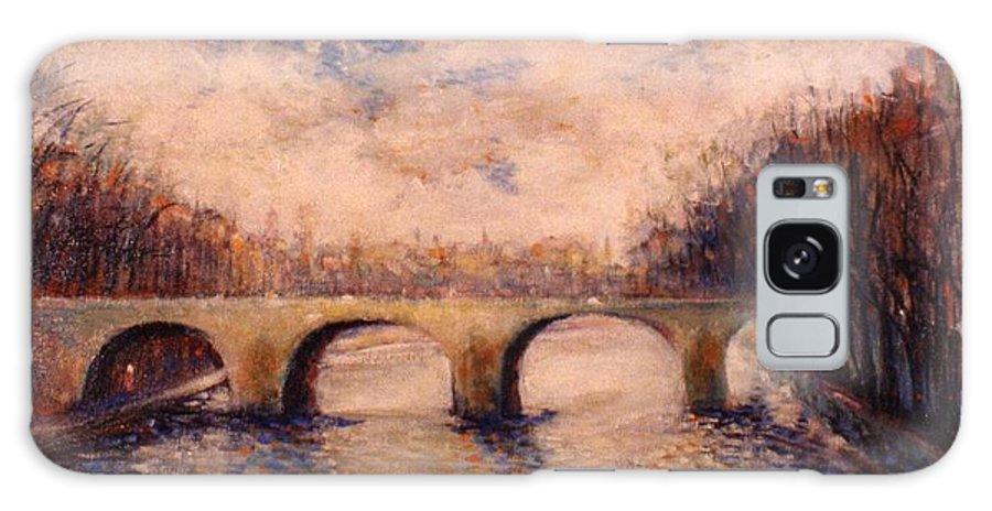 Paris Galaxy S8 Case featuring the painting Pont Sur La Seine by Walter Casaravilla