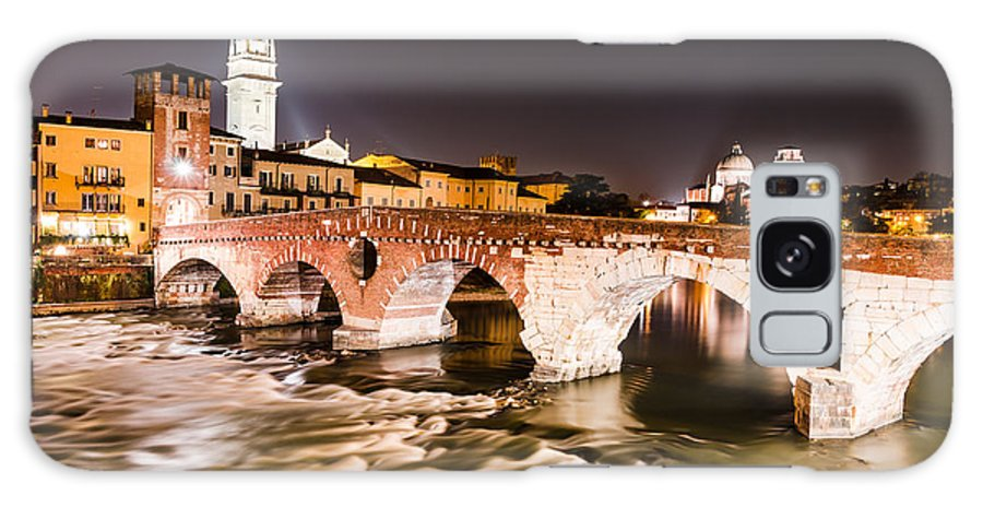 Adige Galaxy S8 Case featuring the photograph Ponte Pietra Verona In Italy by Emi Cristea