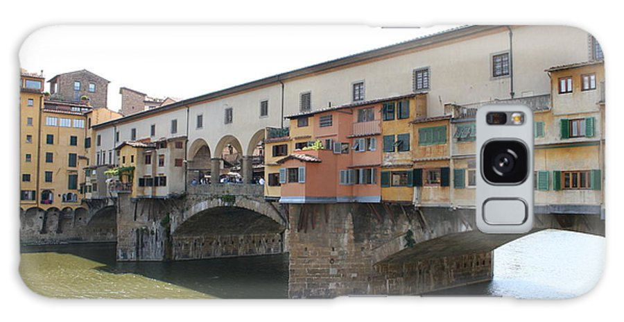 Bridge Galaxy S8 Case featuring the photograph Ponte Vecchio - Florence by Christiane Schulze Art And Photography