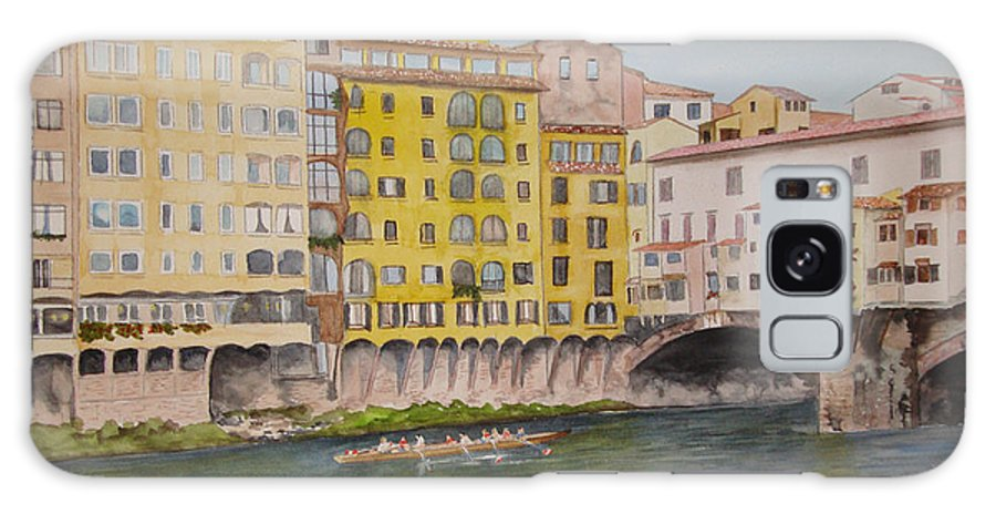 Italy Galaxy S8 Case featuring the painting Ponti Vecchio by Gale Champion