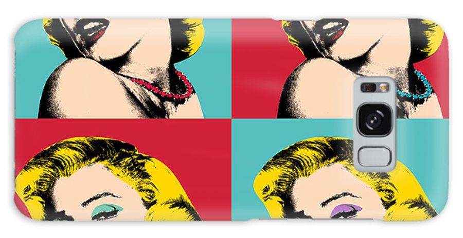 Pop Art Galaxy Case featuring the painting Pop Art Collage by Mark Ashkenazi
