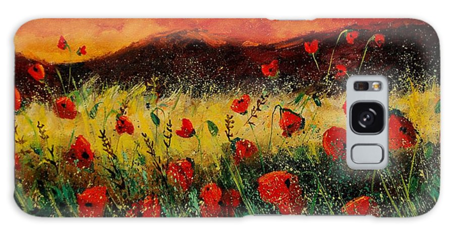 Poppies Galaxy Case featuring the painting Poppies 68 by Pol Ledent