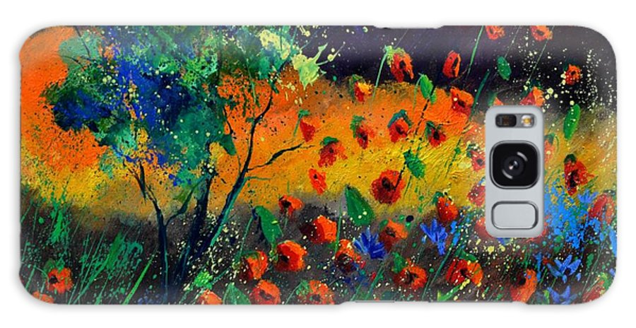 Landscape Galaxy Case featuring the painting Poppies 774111 by Pol Ledent