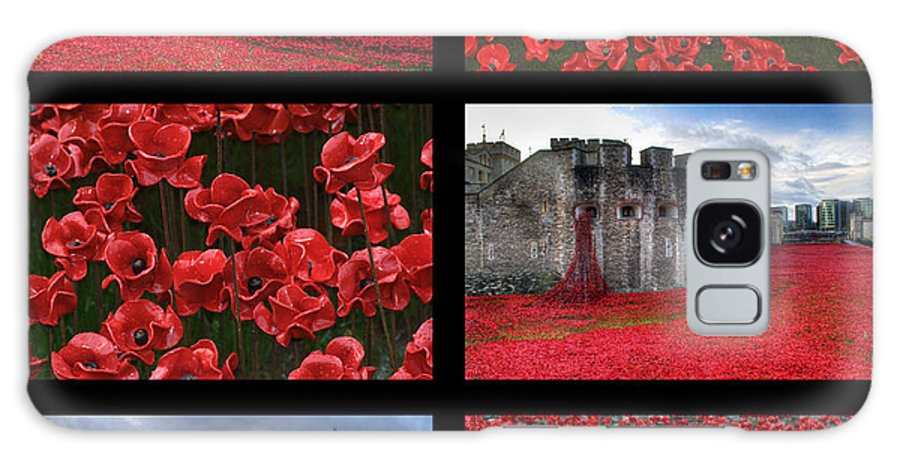 Tower Of London Poppies Galaxy S8 Case featuring the photograph Poppies At The Tower Collage by Chris Day