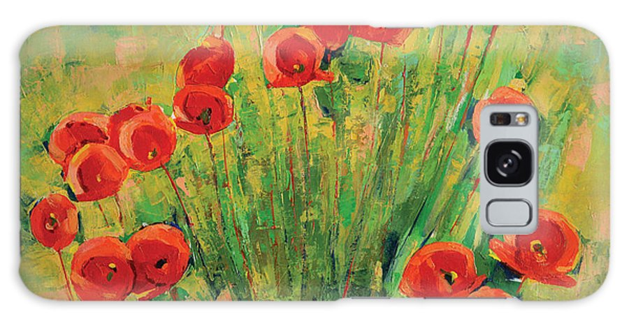 Poppies Galaxy Case featuring the painting Poppies by Iliyan Bozhanov