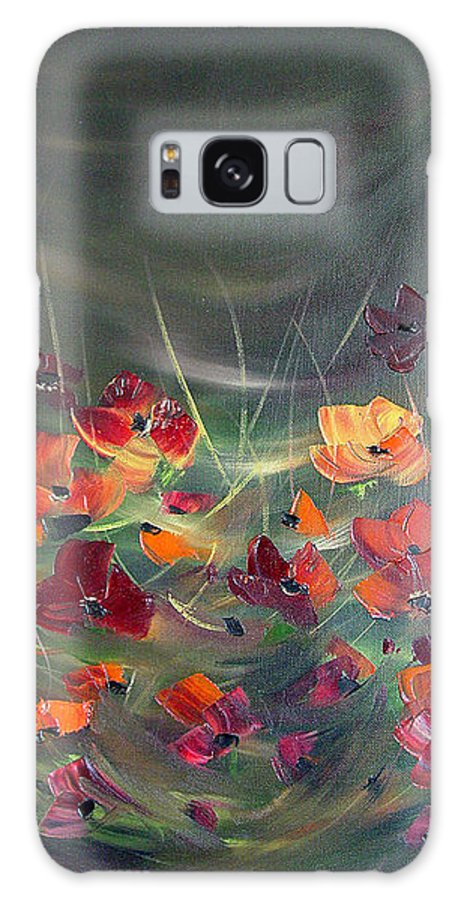 Poppies Galaxy S8 Case featuring the painting Poppies In The Shadow by Dorothy Maier