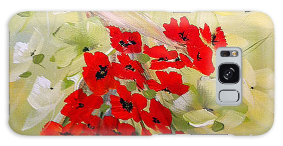 Poppies Lady Galaxy S8 Case featuring the painting Poppies Lady by Dorothy Maier