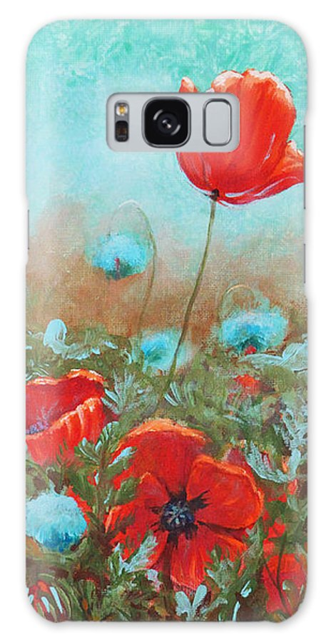 Toni Wolf Galaxy S8 Case featuring the painting Poppies by Toni Wolf
