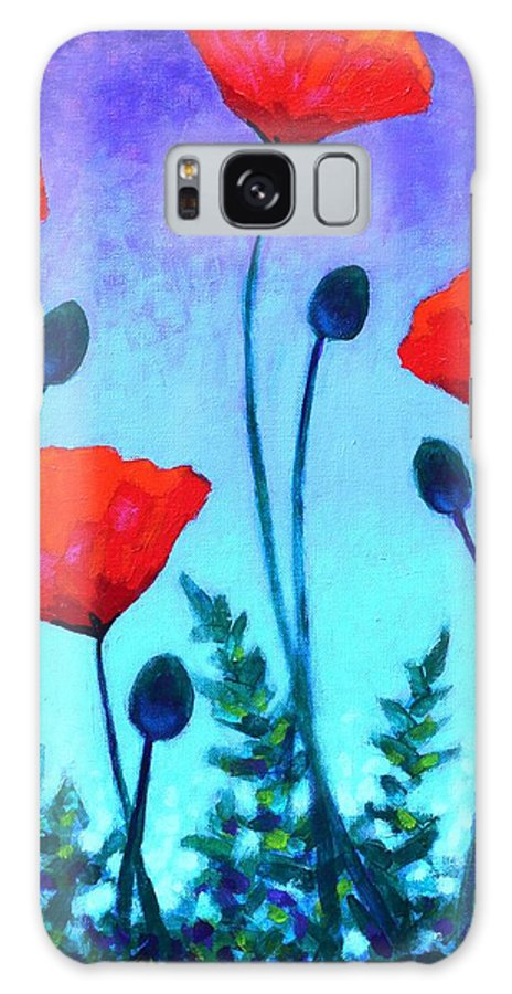 Flowers Galaxy S8 Case featuring the painting Poppy Corner by John Nolan