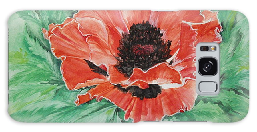 Poppy Galaxy S8 Case featuring the painting Poppy by Ellen Canfield