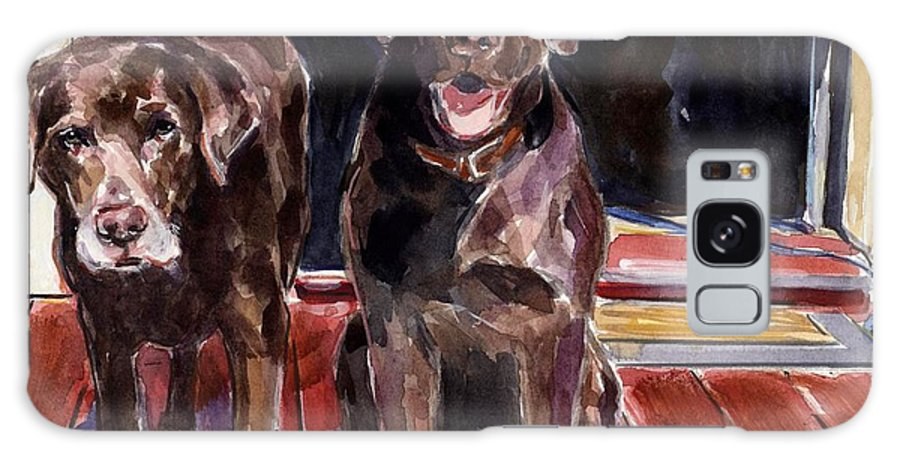 Chocolate Labs Galaxy S8 Case featuring the painting Porch Light by Molly Poole