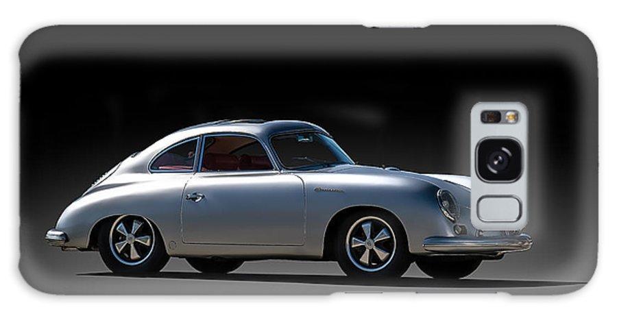 Silver Galaxy S8 Case featuring the digital art Porsche 356 Outlaw by Douglas Pittman