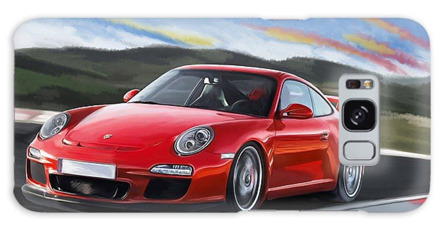 Porsche Galaxy S8 Case featuring the painting Porsche 911 Gt3 by Tim Gilliland