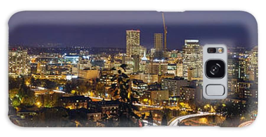 Portland Galaxy S8 Case featuring the photograph Portland Cityscape And Freeway At Blue Hour by Jit Lim