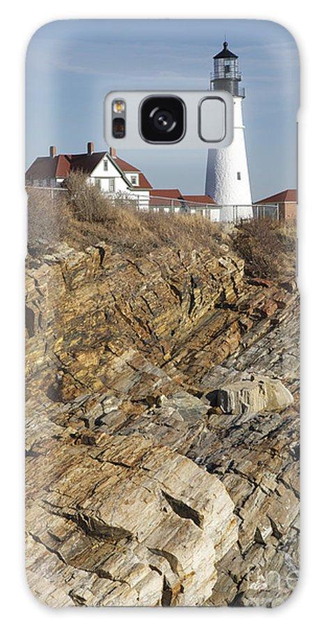 Atlantic Ocean Galaxy S8 Case featuring the photograph Portland Head Light - Cape Elizabeth Maine by Erin Paul Donovan