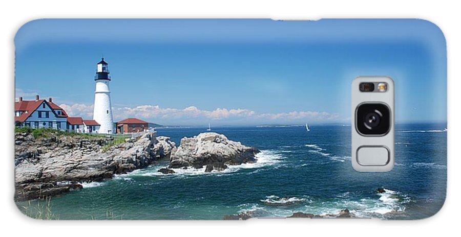 Portland Head Lighthouse Galaxy S8 Case featuring the photograph Portland Head Lighthouse by Allen Beatty