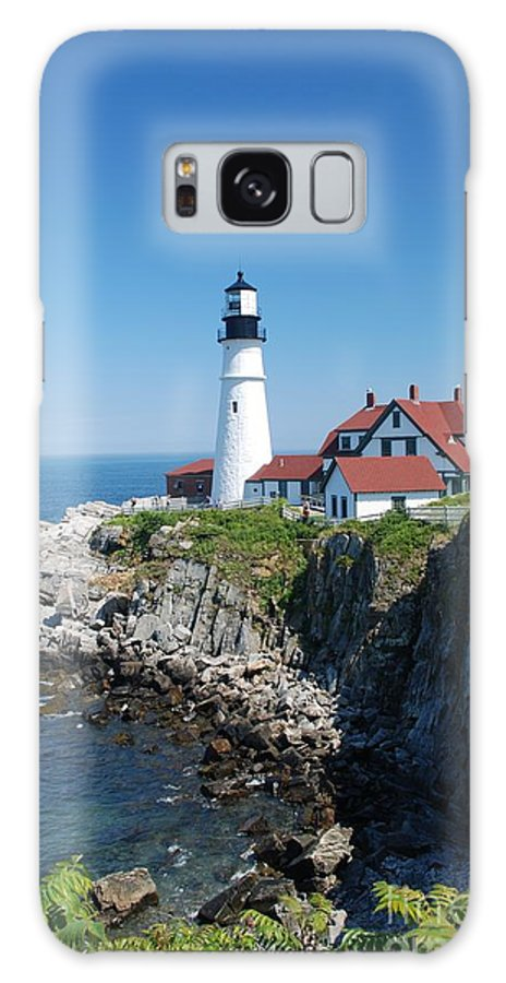 Portland Head Lighthouse Galaxy S8 Case featuring the photograph Portland Lighthouse 2 by Allen Beatty