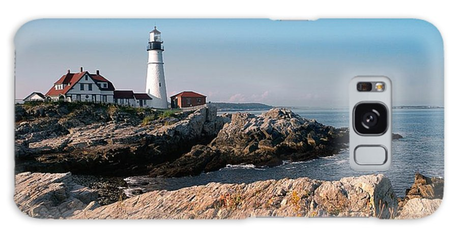 Maine Galaxy S8 Case featuring the photograph Portland Lighthouse by Chris Helm