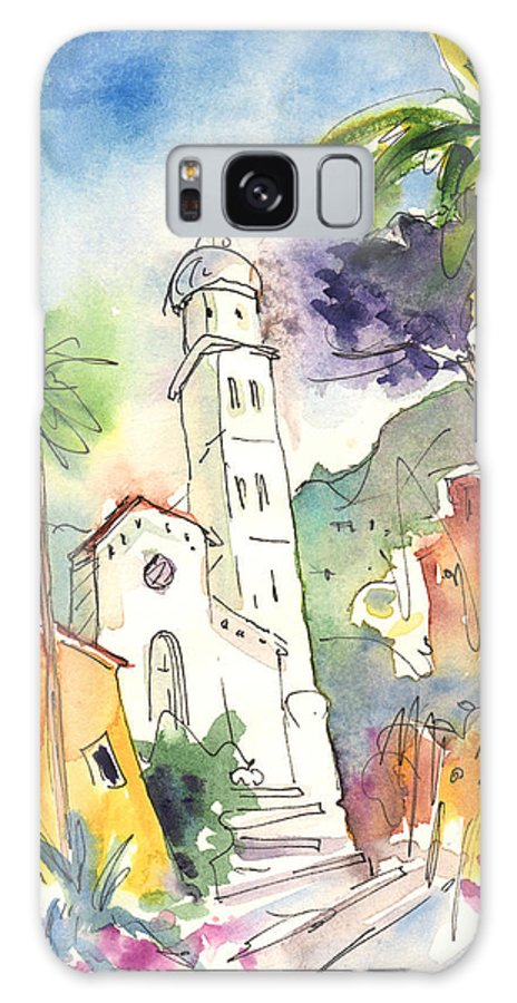 Italy Galaxy S8 Case featuring the painting Portofino In Italy 01 by Miki De Goodaboom
