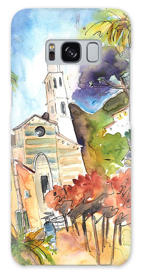 Italy Galaxy S8 Case featuring the painting Portofino In Italy 05 by Miki De Goodaboom
