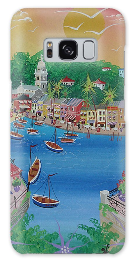 Italy Galaxy S8 Case featuring the photograph Portofino, Italy, 2012 Acrylic On Canvas by Herbert Hofer