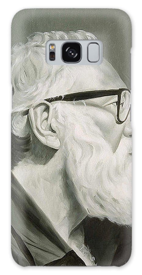 Portrait Galaxy Case featuring the painting Portrait In Grisaille by Gary Hernandez