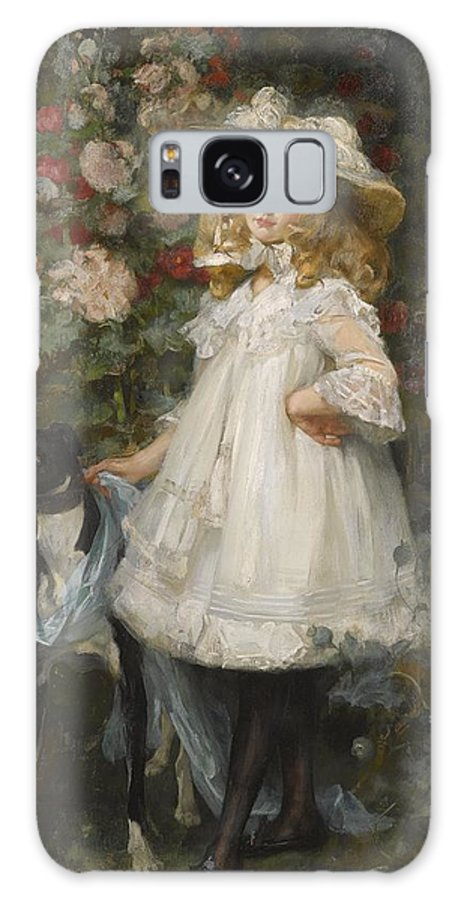 James Jebusa Shannon 1862 - 1923 Portrait Of A Girl 1901 Galaxy S8 Case featuring the painting Portrait Of A Girl by Celestial Images