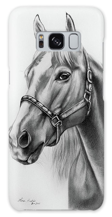 Portrait Galaxy S8 Case featuring the drawing Portrait Of A Horse by Lena Auxier