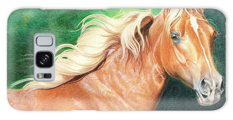 Colored Pencil Galaxy S8 Case featuring the drawing Portrait Of A Palomino by Carrie L Lewis