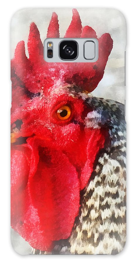 Chicken Galaxy S8 Case featuring the photograph Portrait Of A Rooster by Susan Savad