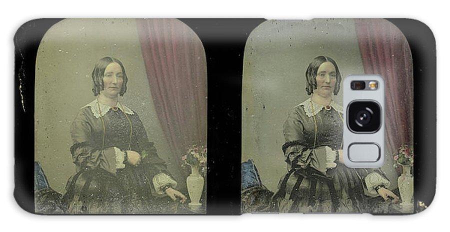 Portrait Galaxy S8 Case featuring the drawing Portrait Of A Woman, Antoine Francois Jean Claudet by Artokoloro