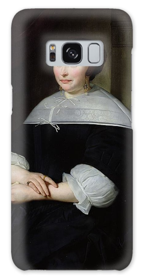 Female Galaxy S8 Case featuring the photograph Portrait Of A Woman Oil On Canvas by Abraham Lamberts Jacobsz van den Tempel