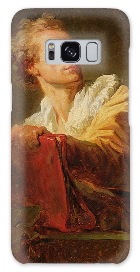 Portrait D'un Jeune Artiste Galaxy S8 Case featuring the painting Portrait Of A Young Artist by Jean-Honore Fragonard