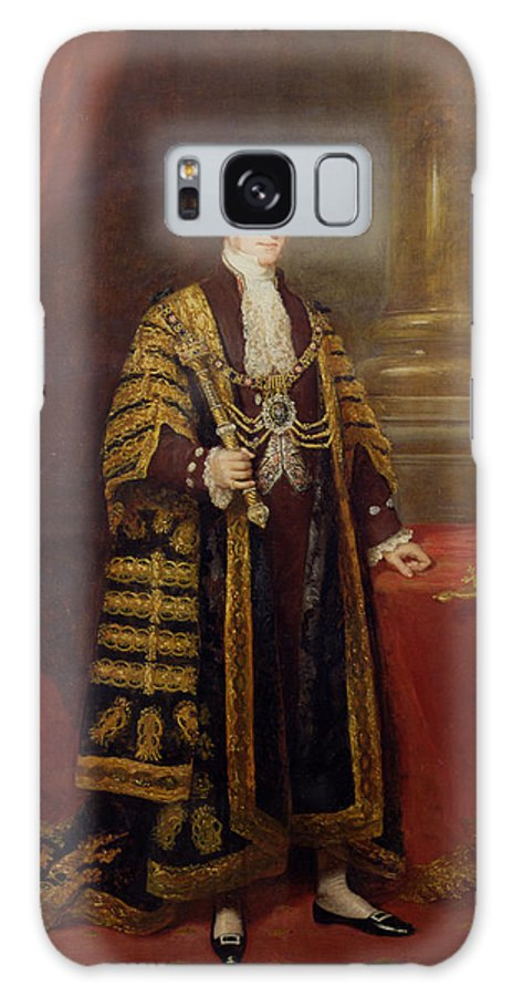 Robes Galaxy S8 Case featuring the photograph Portrait Of Colonel Sir Samuel Wilson, Lord Mayor Of London, 1838 Oil On Canvas by Charles Martin
