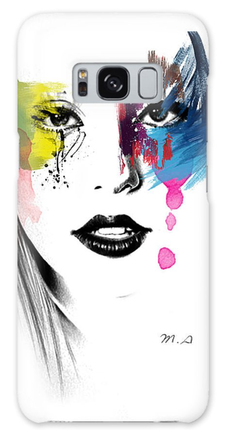 Lady Gaga Galaxy Case featuring the painting Portrait Of Colors  by Mark Ashkenazi