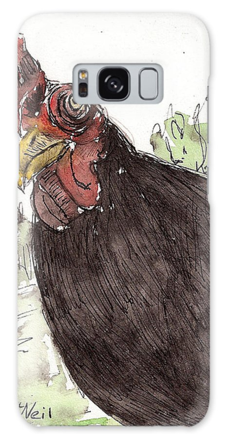 Chicken Galaxy S8 Case featuring the drawing Portrait Of Drumstick by Sharon McNeil