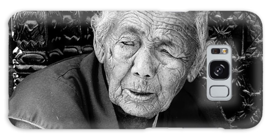 Portrait Galaxy S8 Case featuring the photograph Portrait Of Elderly Woman by Kedar Munshi