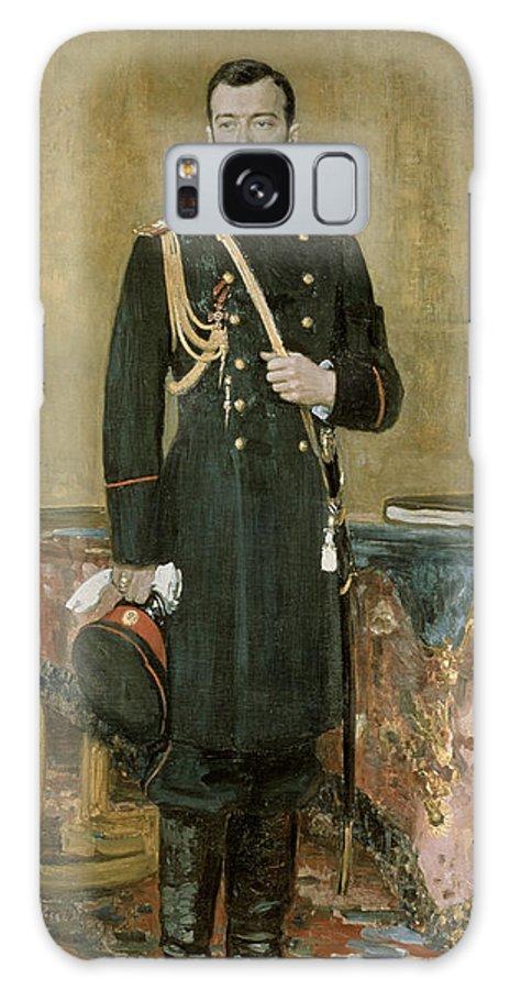 Male Galaxy S8 Case featuring the photograph Portrait Of Emperor Nicholas II 1868-1918 1895 Oil On Canvas by Ilya Efimovich Repin