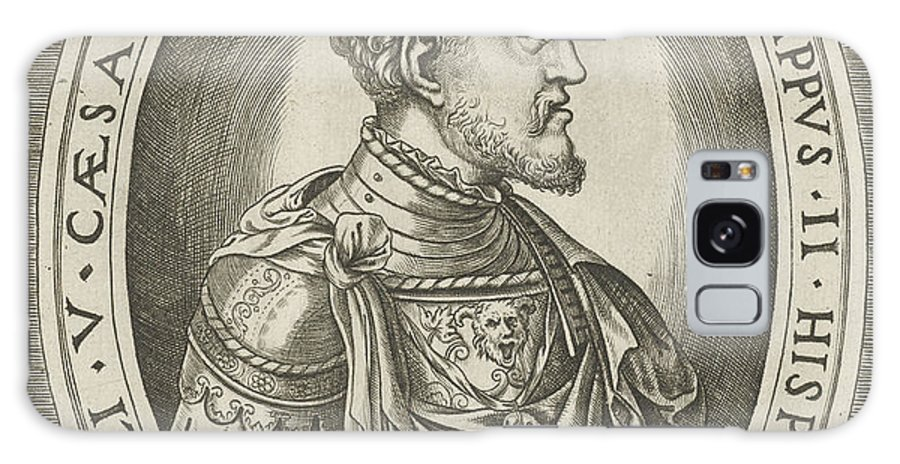 1546 Galaxy S8 Case featuring the drawing Portrait Of King Philip II Of Spain, Frans Huys by Quint Lox
