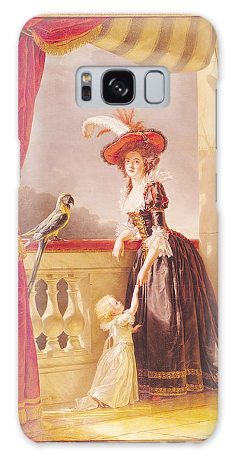 Princess Galaxy S8 Case featuring the photograph Portrait Of Louise-elisabeth De France 1727-59 Duchess Of Parma And Her Son Ferdinand 1751-1802 by Adelaide Labille-Guiard