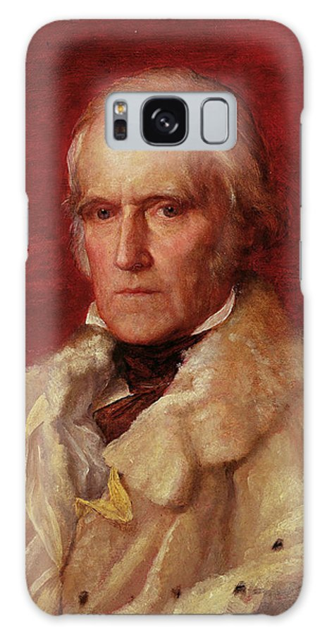 Male Galaxy S8 Case featuring the photograph Portrait Of Stratford Canning 1786-1880, Viscount Stratford De Redcliffe 1856-7 Oil On Canvas by George Frederick Watts