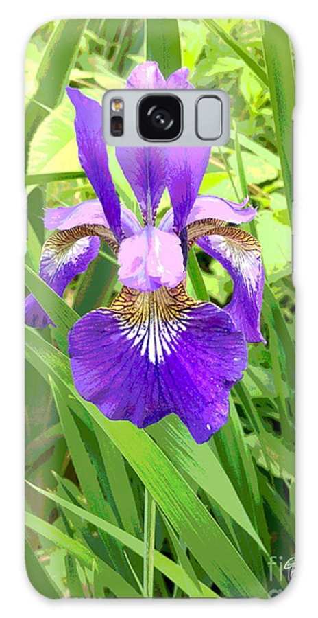 Posterized Galaxy S8 Case featuring the photograph Posterized Japanese Iris by GG Burns