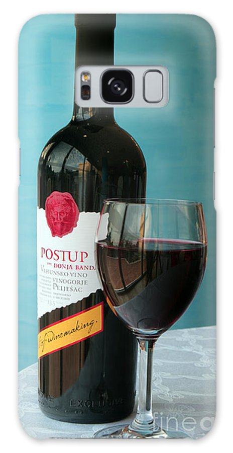 Peljesac Galaxy S8 Case featuring the photograph Postup Croatian Fine Wine by Ros Drinkwater