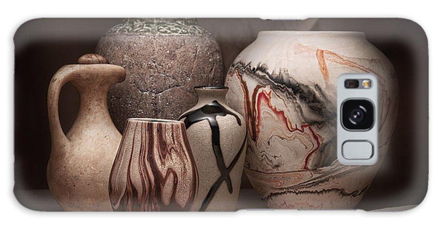 Amphora Galaxy S8 Case featuring the photograph Pottery Still Life by Tom Mc Nemar