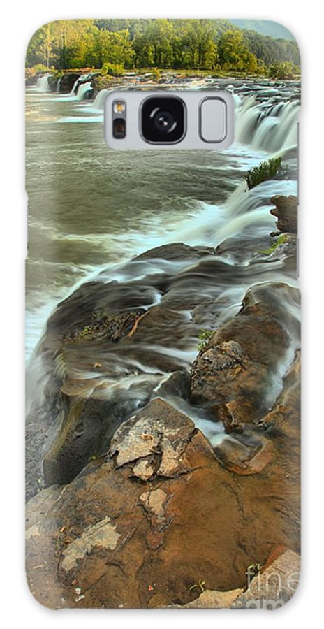 West Virginia Waterfalls Galaxy S8 Case featuring the photograph Pouring Through The New River by Adam Jewell